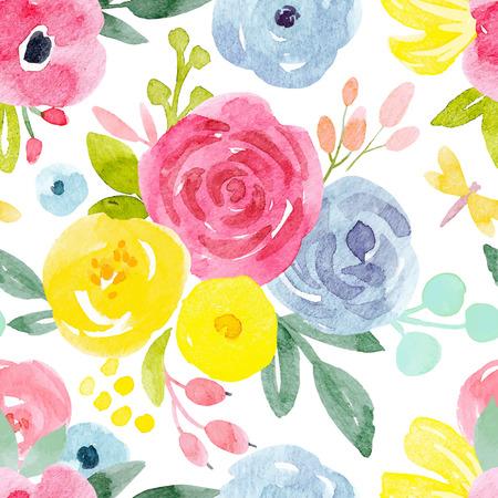 aquarelle abstraite motif floral vecteur Banque d'images