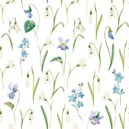 Aquarel bloemen vector patroon