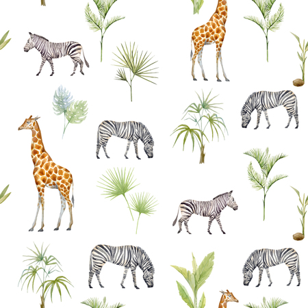Watercolor afriacnan vector pattern