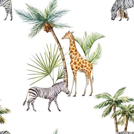 Watercolor afriacnan pattern 스톡 콘텐츠