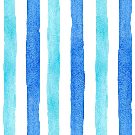 Watercolor blue stripes vector pattern