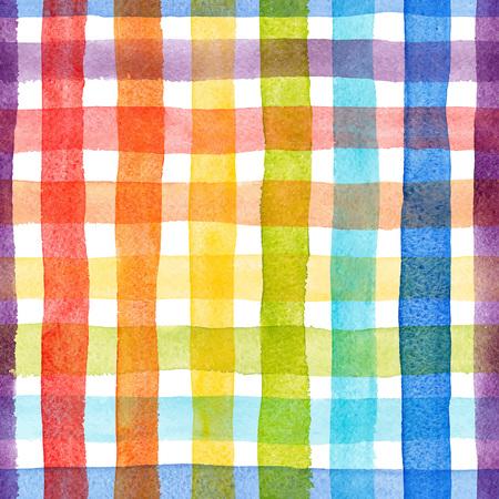 Aquarel regenboog strepen vector patroon