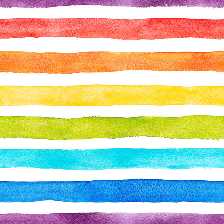 Aquarel regenboog strepen patroon