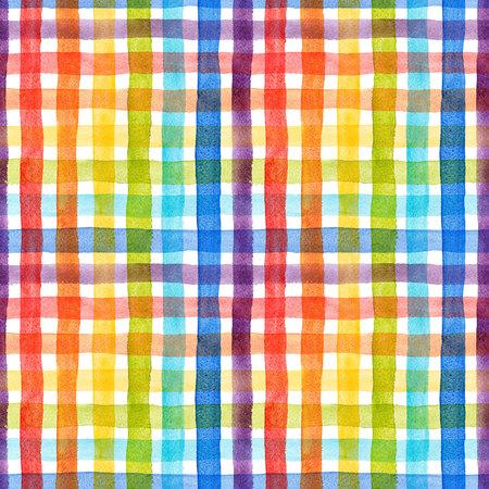 Watercolor rainbow stripes pattern Zdjęcie Seryjne - 97280913