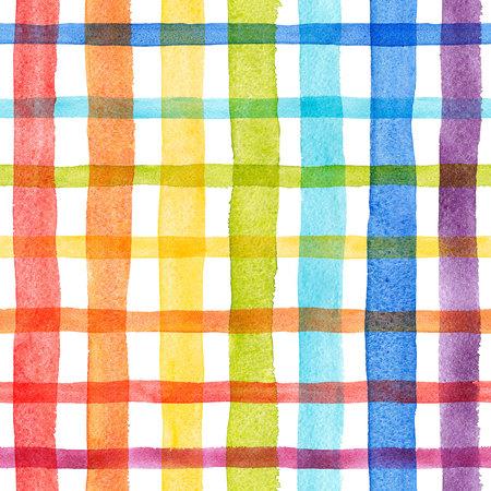 Aquarel regenboog strepen patroon Stockfoto