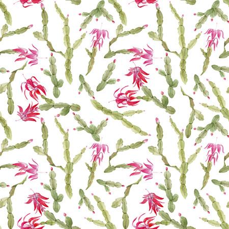 Schlumbergera cactus vector pattern Stock Illustratie