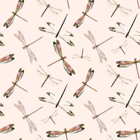 Reticolo di vettore della libellula dell'acquerello