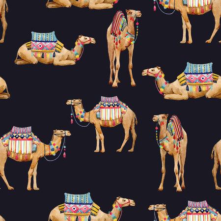 Modèle de chameau aquarelle