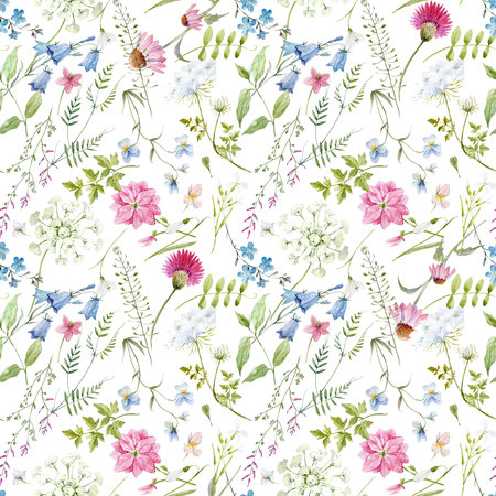 Watercolor floral pattern Stockfoto - 112521372