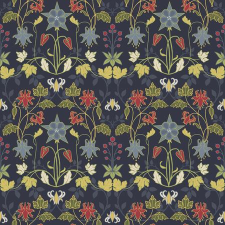 Modern Art Nouveau pattern 矢量图像