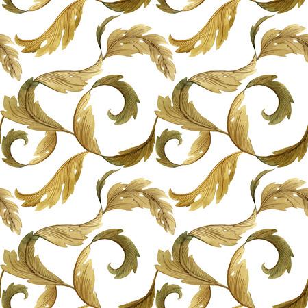 Modern Art Nouveau leaf pattern