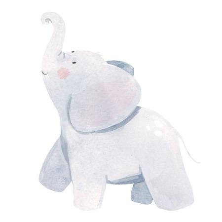 Ilustración de elefante bebé acuarela Foto de archivo