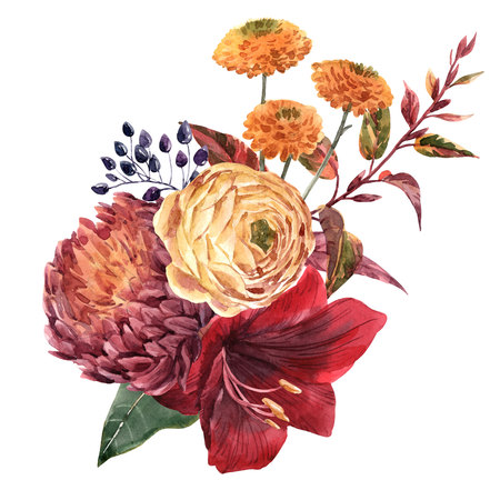 Aquarel bloemen illustratie