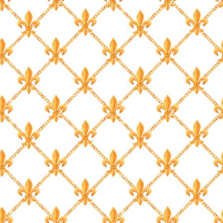 Watercolor vector golden baroque pattern rococo ornament rich luxury print