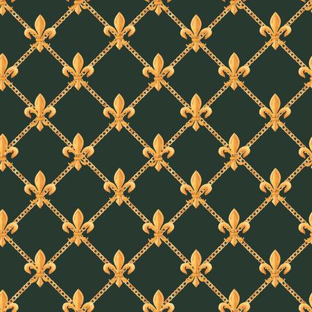 Watercolor vector golden baroque pattern rococo ornament rich luxury print Zdjęcie Seryjne - 122039137