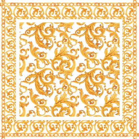 Golden baroque rich luxury pattern Standard-Bild - 117605202