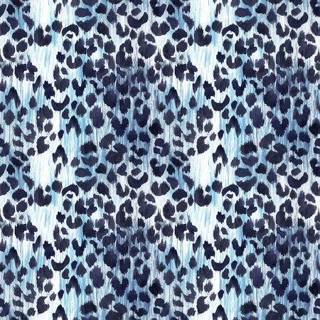 Watercolor leopard jaguar texture vector pattern 일러스트