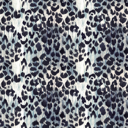 Watercolor leopard jaguar texture vector pattern Ilustrace