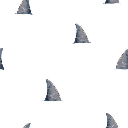 Motif de requin aquarelle