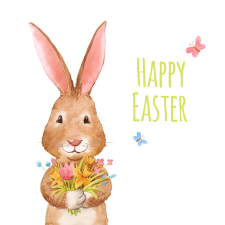 Cute easter rabbit Stock Photo