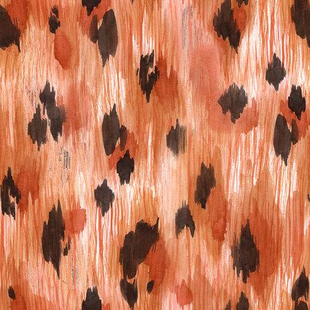 Watercolor leopard jaguar texture pattern 版權商用圖片