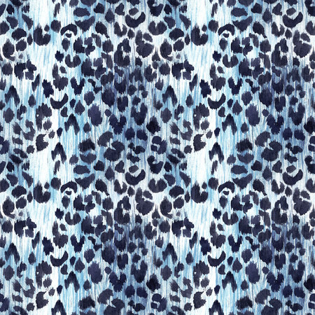 Watercolor leopard jaguar texture pattern 스톡 콘텐츠