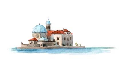 Watercolor montenegro illustration