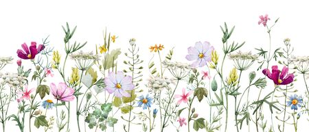 Watercolor floral pattern Imagens - 129212241