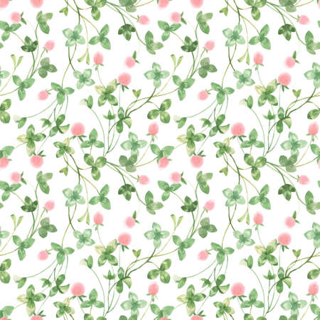 Beautiful seamless floral pattern with watercolor gentle spring flowers. Stock illustration. Illustration