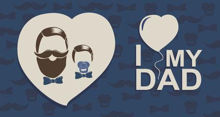 J'aime mon papa du garçon Banque d'images - 58560077