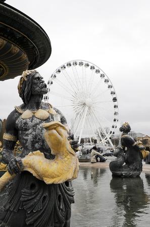 concorde: Statue artwork in Place de La Concorde