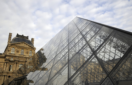louvre pyramid: Pyramid building of Louvre