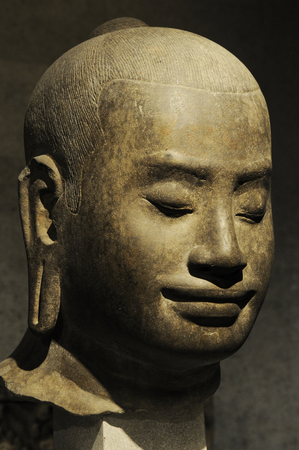 Closeup of a long eared buddha Stock Photo