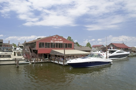 june 25: St Michaels mD. June 25 crab claw popular restaurant on water near St Michaels MD. June 25 Editorial