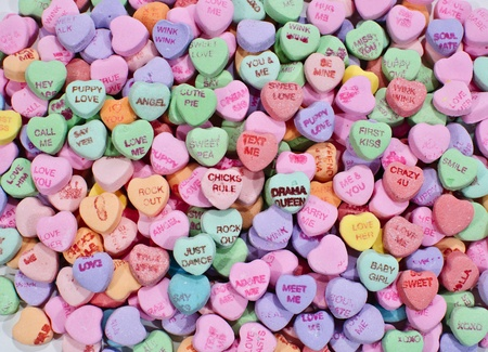 candy hearts: Candy Hearts Stock Photo