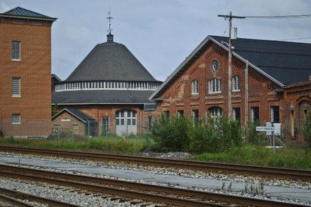 Restored railroad buildings in Martinsburg WV