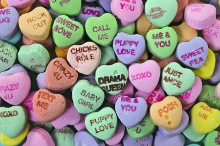 candy hearts: candy hearts