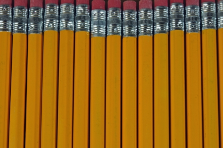 background of standard yellow pencils