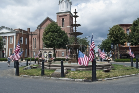 Chambersburg,Pa. 6142011 flag day center square Editorial