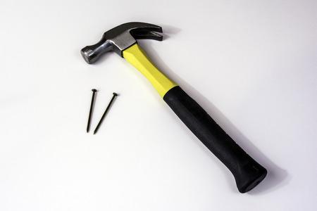 hammer and nails Banco de Imagens