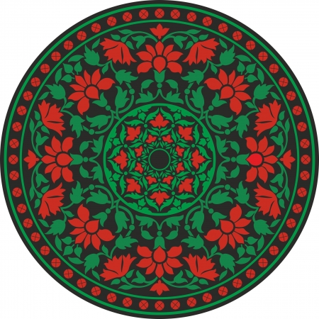 persia: Indian traditional pattern in color - flower mandala