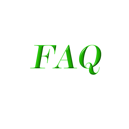 FAQ word sign close up on white background. Frequently Asked Questions concept