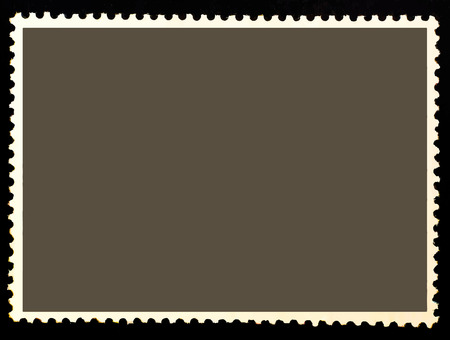Blank postage stamp for graphic designers.Vector illustration