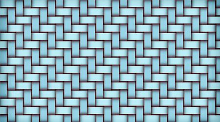 Turquoise realistic rattan woven background. Bamboo texture pattern. Vector illustration Vektoros illusztráció