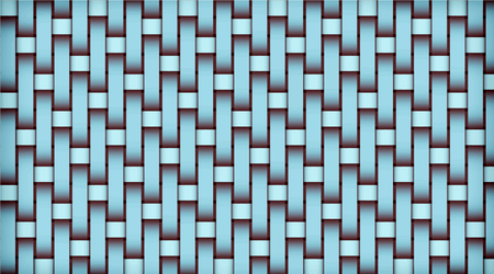 Turquoise realistic rattan woven background. Bamboo texture pattern. Vector illustration