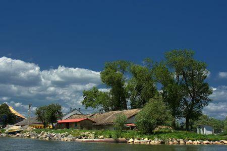 the danube: Small vilage in Danube Delta