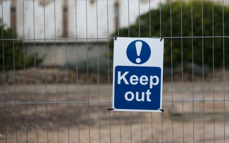 keep out: keep out sign Stock Photo