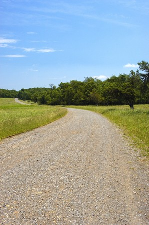 long winding trail road