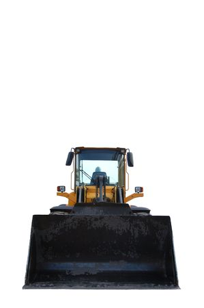 isolated bulldozer front view Stock Photo - 4383363