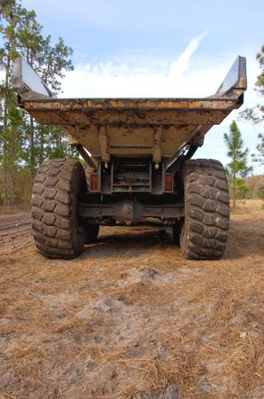 rear view of large dumptruck Stock Photo